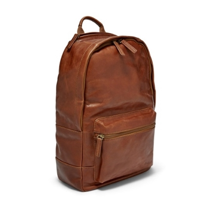 Picture of Fossil Estate Casual Leather Backpack - Cognac