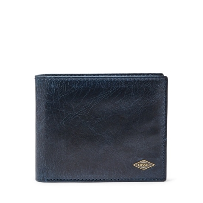 Picture of Fossil Ryan Bifold Wallet with Flip ID - Navy