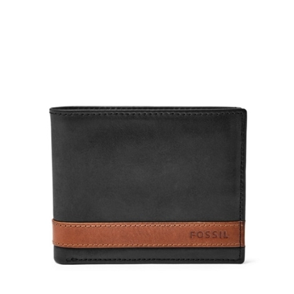 Picture of Fossil Quinn Bifold Wallet with Flip ID - Black