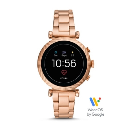 Picture of Fossil Sloan HR Rose Gold-Tone Touchscreen Smartwatch
