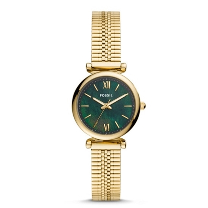 Picture of Fossil Carlie Mini Gold-Tone Watch with Green MOP Dial