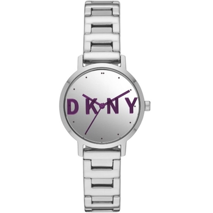 Picture of DKNY Modernist Stainless Steel Watch with Purple Dial