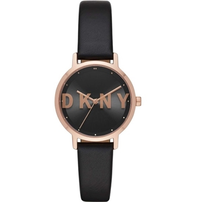 Picture of DKNY Modernist Black/Rose Gold Watch