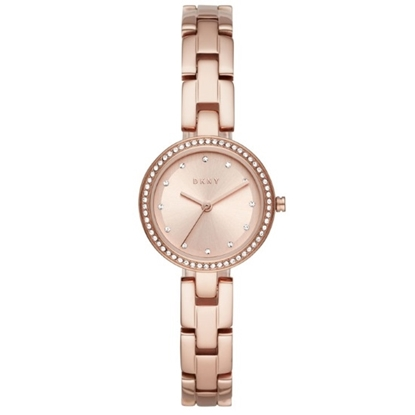 Picture of DKNY City Link Pave Dial Rose Gold-Tone Stainless Steel Watch