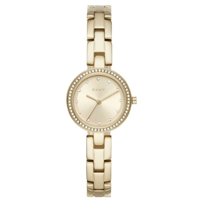 Picture of DKNY City Link Pave Dial Gold-Tone Stainless Steel Watch