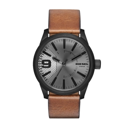 Picture of Diesel Men's Rasp Watch with Black Case & Brown Strap