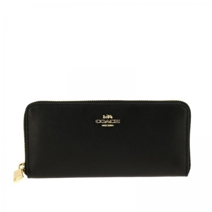 Picture of Coach Leather Slim Accordion - Gold/Black