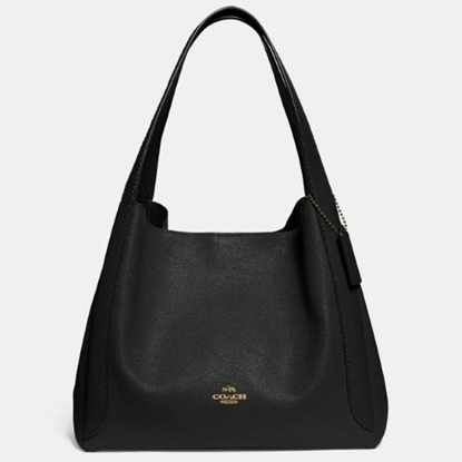 Picture of Coach Leather Hadley Hobo - Gold/Black