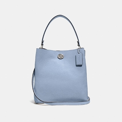 Picture of Coach Leather Charlie Bucket - Silver/Mist