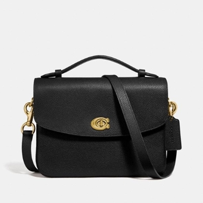 Picture of Coach Leather Cassie Crossbody - Brass/Black