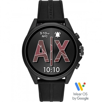 Picture of Armani Exchange Drexler Black Silicone Smartwatch