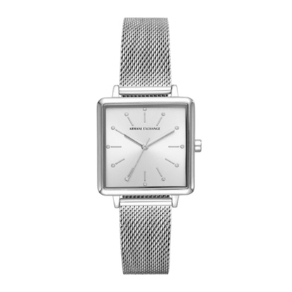 Picture of Armani Exchange Lola Square Stainless Steel Mesh Watch