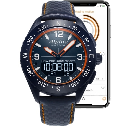 Picture of Alpina AlpinerX Smartwatch with Blue Leather Strap