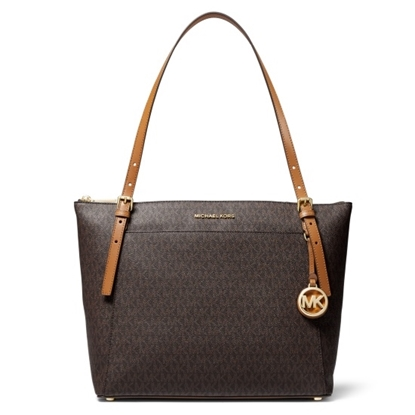 Picture of Michael Kors Voyager Signature E/W Top-Zip Tote