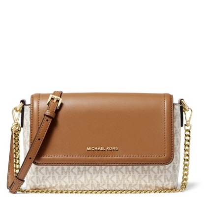 Picture of Michael Kors Jet Set Signature Pouchette Crossbody