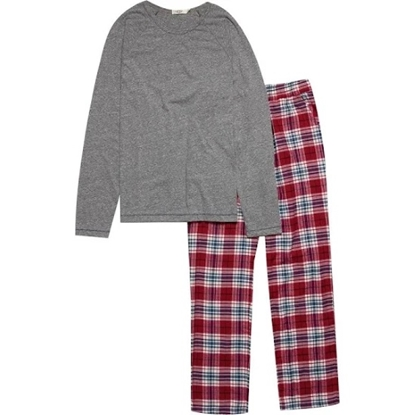 Picture of UGG® Men's Steiner PJ Set in Chili Pepper/Grey