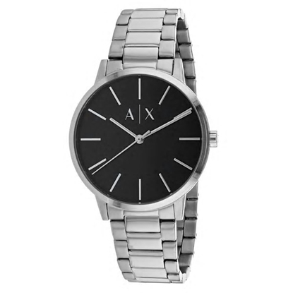 Picture of Armani Exchange Cayde Stainless Steel Watch with Black Dial