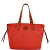 Picture of Dooney & Bourke™ Nylon Shopper - Red with Russet Trim