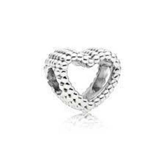 Picture of Pandora® Beaded Heart Silver Charm