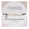 Picture of Honora Adjustable HOPE Bracelet with White Freshwater Pearls