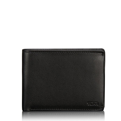 Picture of Tumi Nassau ID Lock Double Billfold - Black Textured