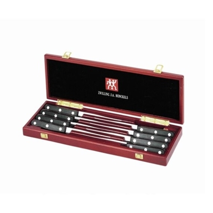 Picture of Zwilling Twin Gourmet Classic 8PC Steak Knife Set w/ Wood Case