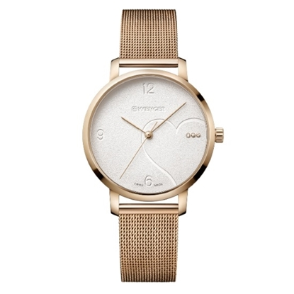 Picture of Wenger Metropolitan Donnissima Rose Gold-Tone Steel Mesh Watch