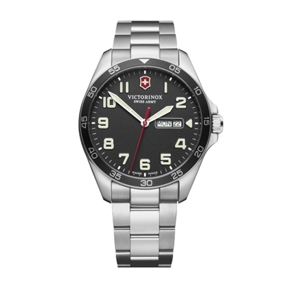 Picture of Victorinox Fieldforce Lg Stainless Steel Watch with Black Dial