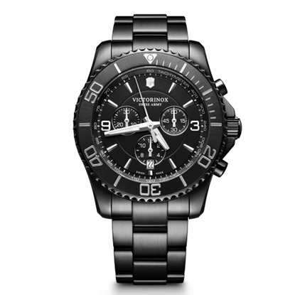 Picture of Victorinox Maverick Large Chronograph Black-Tone Steel Watch