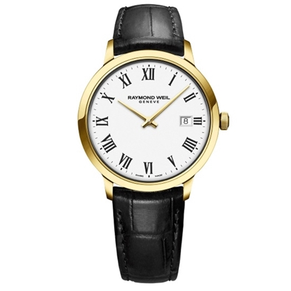 Picture of Raymond Weil Toccata Watch with Leather Strap & Gold-Tone Case
