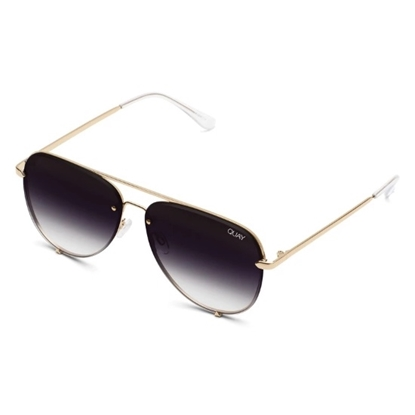 Picture of Quay High Key Rimless Sunglasses - Gold/Fade