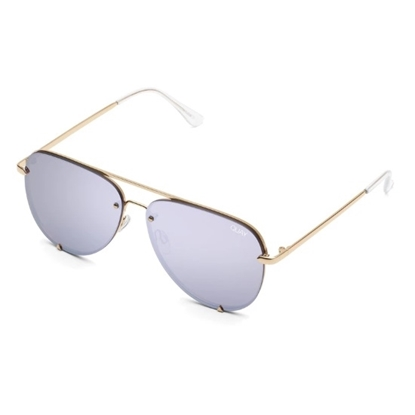 Picture of Quay High Key Rimless Sunglasses - Gold/Lilac