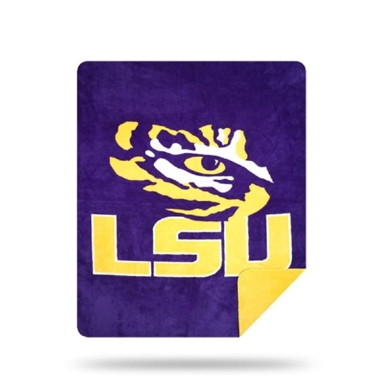Picture of NCAA Sliver Knit Throw Blanket - LSU