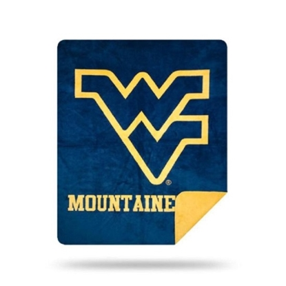 Picture of NCAA Sliver Knit Throw Blanket - West Virginia