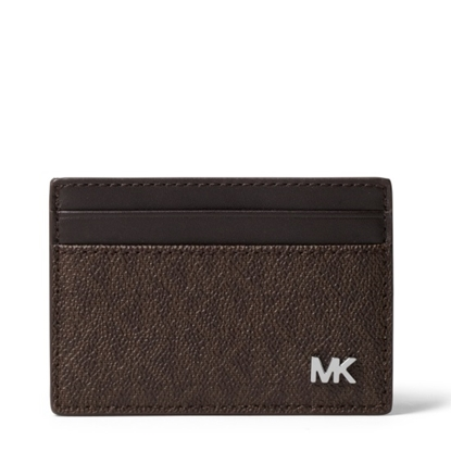 Picture of Michael Kors Jet Set Men's Card Case with Money Clip - Brown