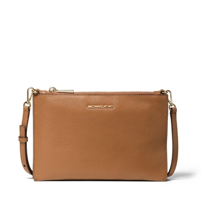 Picture of Michael Kors Large Double Pouch Crossbody - Acorn