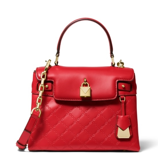 Picture of Michael Kors Gramercy Medium Top Handle Satchel - Bright Red