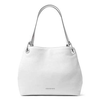 Picture of Michael Kors Raven Large Shoulder Tote - Optic White