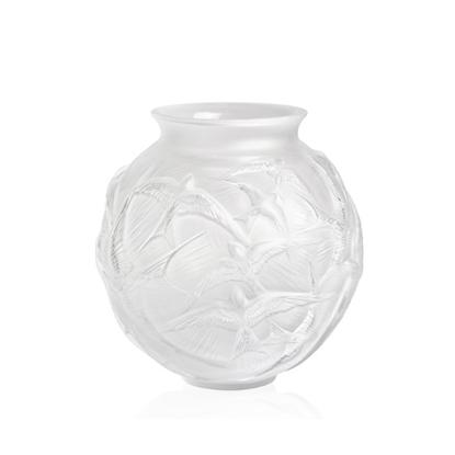 Picture of Lalique Hirondelles Vase - Grey