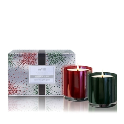 Picture of Lafco Crimson Berry & Winter Balsam Candle Set