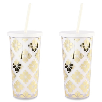 Picture of Kate Spade Set of 2 Tumblers - Gold Spade Flower