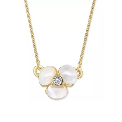 Picture of Kate Spade Disco Pansy Mini Pendant - Cream/Clear