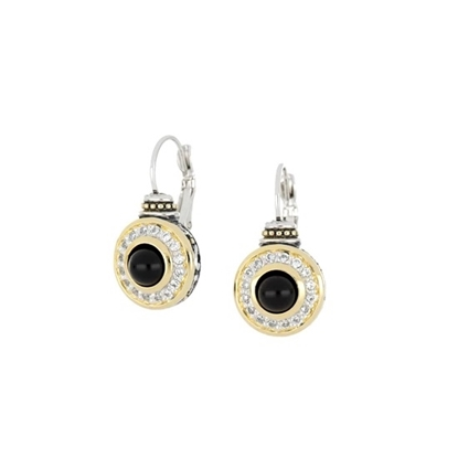 Picture of John Medeiros Perola Genuine Black Onyx French Wire Earrings