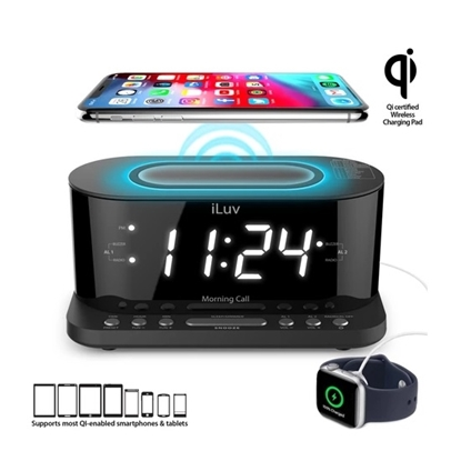 Picture of iLuv® FM 1.2'' LED Alarm Clock with Qi Charging