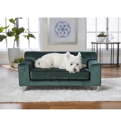 Picture of Enchanted Home Pet Martine Pet Sofa - Emerald Green