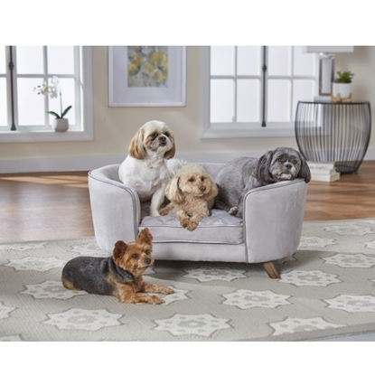 Picture of Enchanted Home Pet Quicksilver II Pet Sofa - Silver