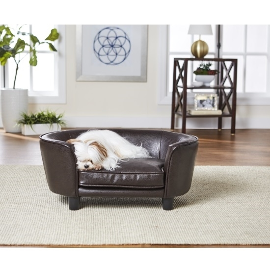 Picture of Enchanted Home Pet Coco Pet Sofa - Pebble Brown