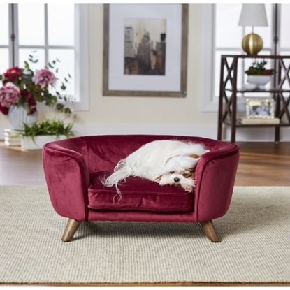 Picture of Enchanted Home Pet Romy Pet Sofa - Wine