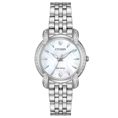 Picture of Citizen Eco-Drive Jolie Stainless Steel Watch with MOP Dial