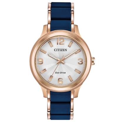Picture of Citizen Drive Watch with Blue Strap & Rose Gold-Tone Case